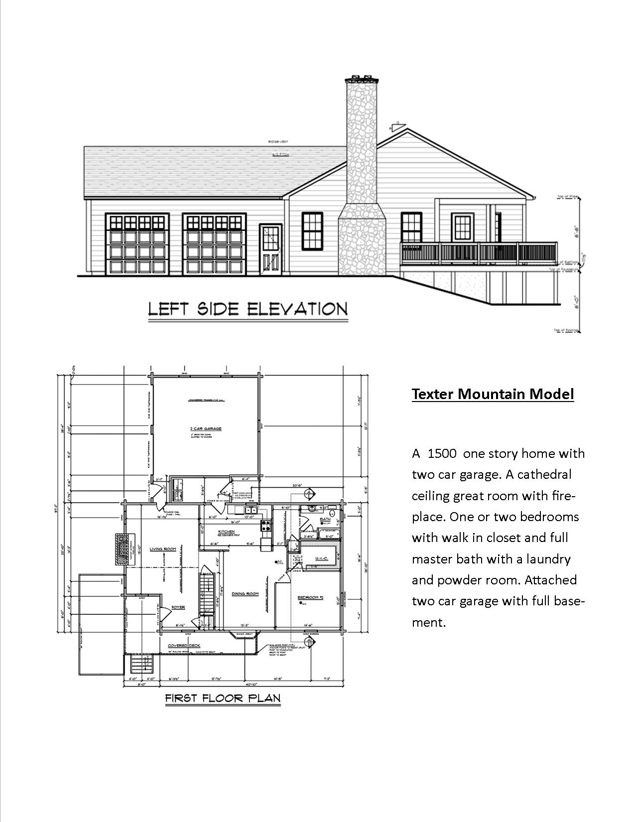 Floor Plans Weiler 39 S Custom Log Homes
